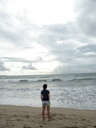 One of my all time favorite photos: watching the sky kiss the ocean on Kuta Beach, Bali, Indonesia