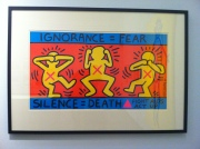 Keith Haring: 'Ignorance=Fear, Silence=Death' Photo: ©Slowaholic