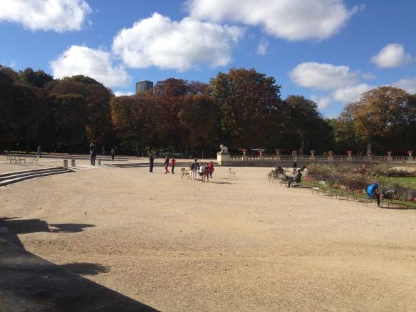 Puștii cu pricina se văd în depărtare. Jardins du Luxembourg, Paris. Oct. 2013, Photo: ©SLOWAHOLIC