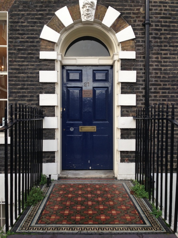 The Blue Door.  London. January 2014.  Photo: ©SLOWAHOLIC