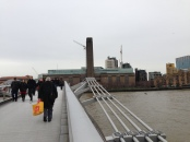 The Old Mand and the Thames. Tate Modern & The Millennium Bridge. Jan. 2014 Photo: ©SLOWAHOLIC