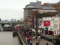 Shakespeare's Globe Theatre seen from the Millennium Bridge. Jan. 2014 Photo: ©SLOWAHOLIC
