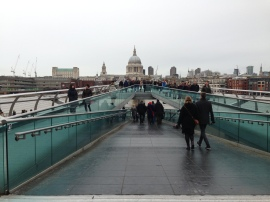 St Paul's Cathedral & Millennium Bridge. Jan. 2014 Photo: ©SLOWAHOLIC