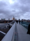 Dreamy evening sky. St Paul's Cathedral & Millennium Bridge. Jan. 2014 Photo: ©SLOWAHOLIC