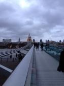 Dreamy evening sky. St Paul's Cathedral & Millennium Bridge. Jan. 2014 Photo: ©SLOWAHOLIC