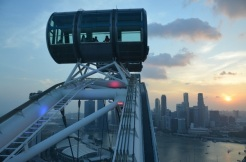 Singapore Flyer. Feb. 2014 Photo: ©SLOWAHOLIC