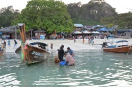 Sea Gypsies after fishing. Ko Phi Phi Photo: ©Slowaholic