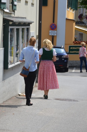 Austrian folk costume. Sankt Gilgen, Austria. July, 2014. Photo: ©SLOWAHOLIC