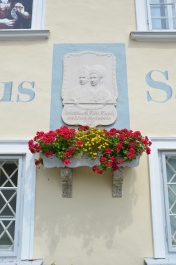 Mozart House (the house where Mozart's mother was born). Sankt Gilgen, Austria. July, 2014. Photo: ©SLOWAHOLIC