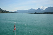Cu vaporul pe Lacul Wolfgang (Wolfgangsee). Boat ride on Lake Wolfgang (Wolfgangsee) Photo: ©SLOWAHOLIC