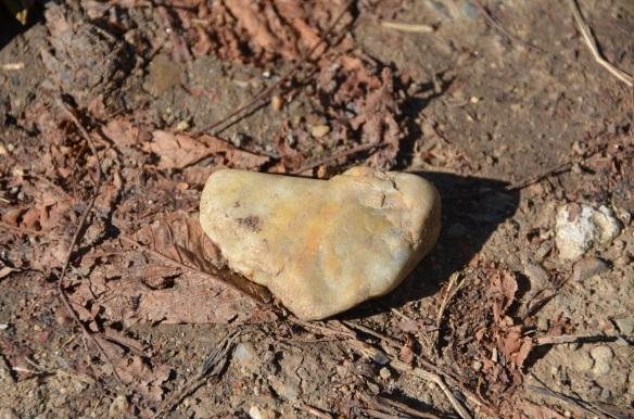 Piatră în formă de inimă. Heart-shaped stone. Cluj, Cetățuie.  Foto: ©Slowaholic. Sept. 2014