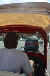 Budapest. Hungary. Tuk Tuk ride. July 2014 Photo: ©Slowaholic