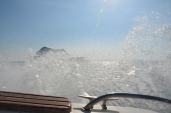 Wall of water. Speed boat from Phuket to Phi Phi. Photo: ©Slowaholic