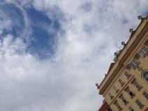 Cotton Candy sky over MQ, Vienna, Austria. Foto: ©Slowaholic