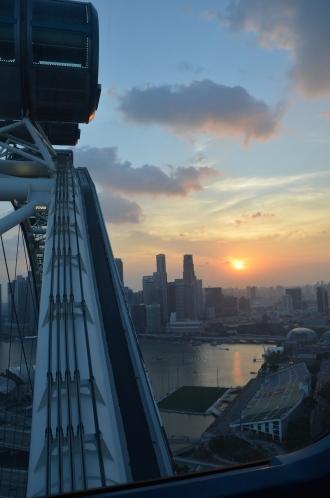 Sunset from the Singapore Flyer. Singapore. Photo: ©Slowaholic