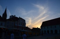 Apus peste Sibiu. Sunset over Sibiu. Photo: ©Slowaholic