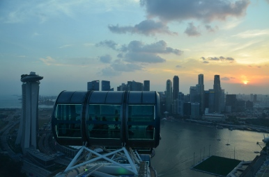 Sunset from the Singapore Flyer. Singapore. Photo: ©Slowaholic