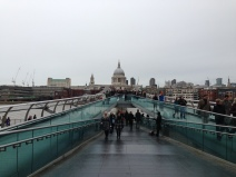 St Paul's Cathedral seen from the Millennium Bridge. Photo: ©Slowaholic