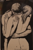 "Ülo Sooster: ""KISS"", Indian ink and collage on paper. 1960. KUMU Museum, Tallinn, Estonia. Photo: ©Slowaholic"