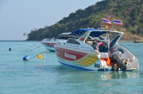 Interesting boat name. … On the way to Ko Phi Phi. Photo: ©Slowaholic
