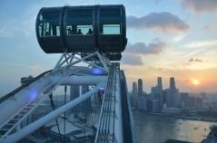 Sunset from the Singapore Flyer. Singapore. Feb. 2014. Photo: ©Slowaholic