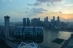 Sunset. Singapore Flyer. Feb. 2014. Photo: ©Slowaholic