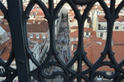View from the top of the Santa Justa Elevator. Lisbon, Portugal. 2012. Photo: ©Slowaholic